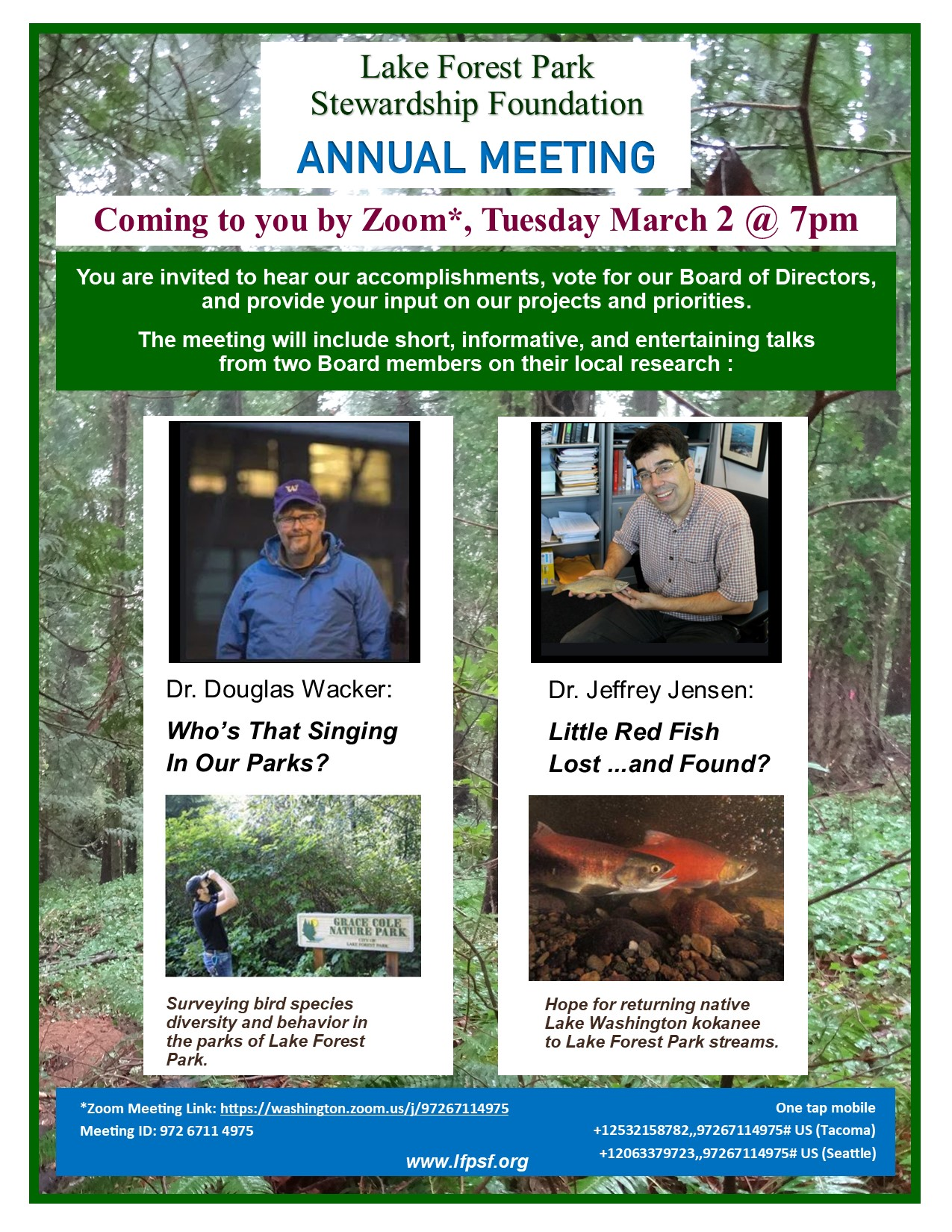 Flyer for Annual Mtg 2021